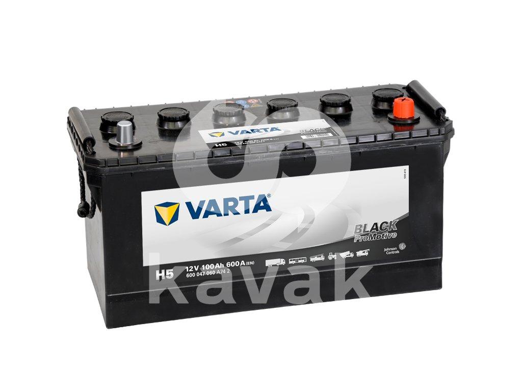 Varta Promotive Black 12V 100Ah 600A 600 047 060