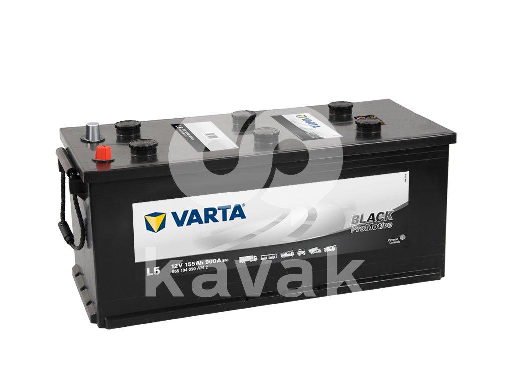 Varta Promotive Black 12V 155Ah 900A 655 104 090
