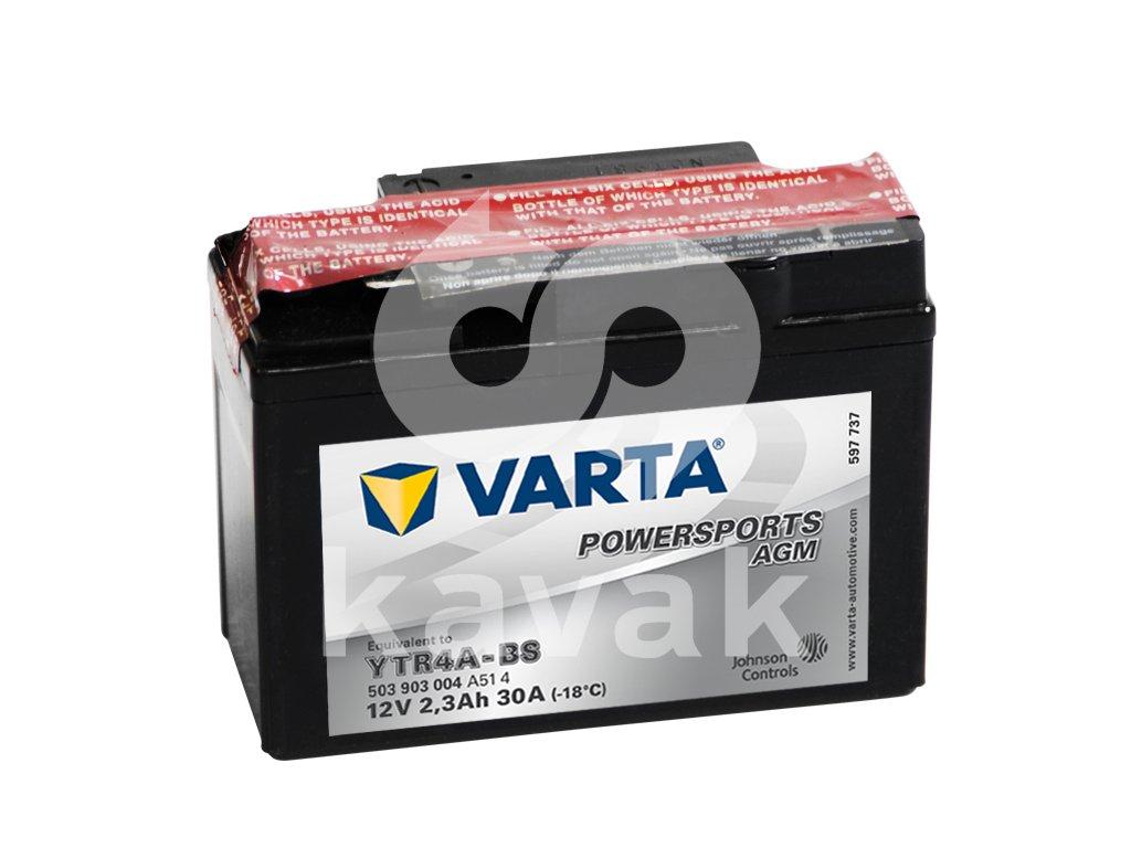 Varta AGM 12V 2.3Ah 30A 503 903 004 YTR4A-BS