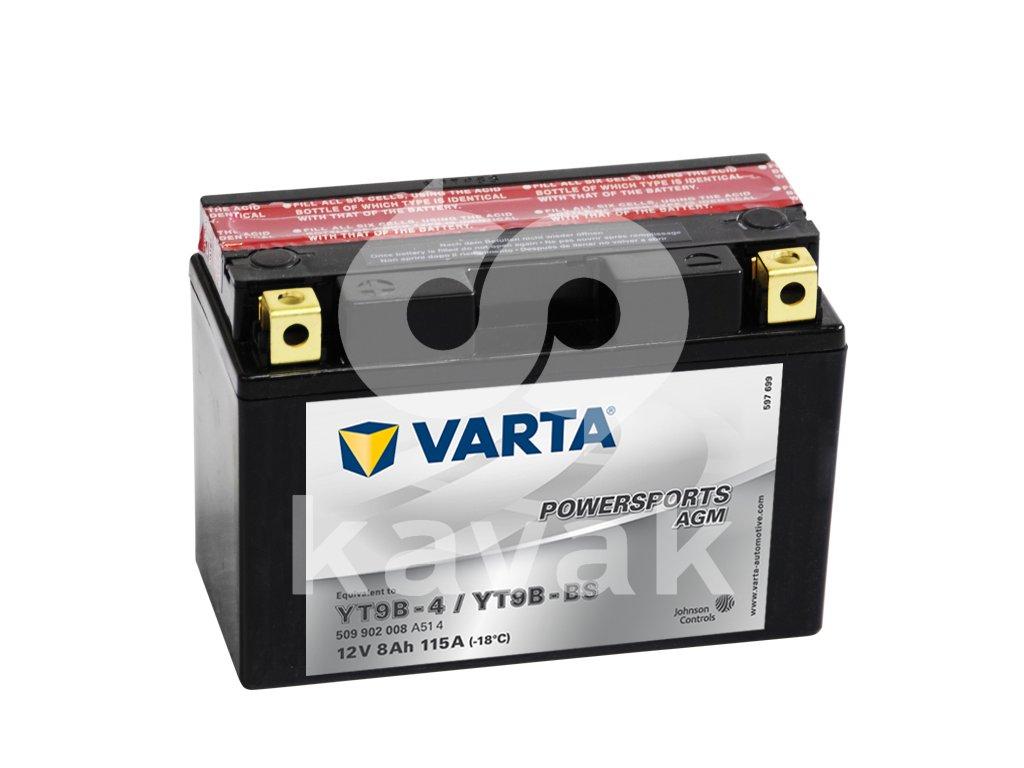 Varta AGM 12V 8Ah 115A 509 902 008 YT9B-BS