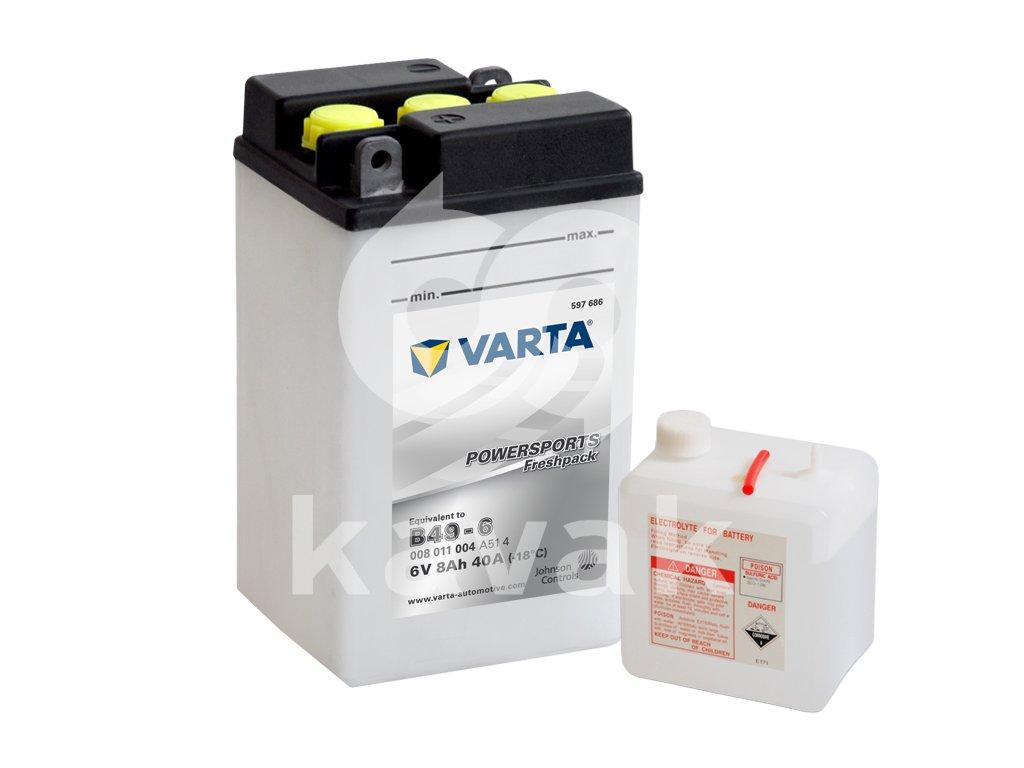 Varta freshpack 6V 8Ah 40A 008 011 004 B49-6