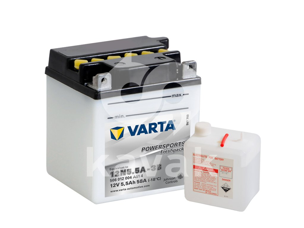 Varta freshpack 12V 5.5Ah 58A 506 012 004 12N5,5A-3B