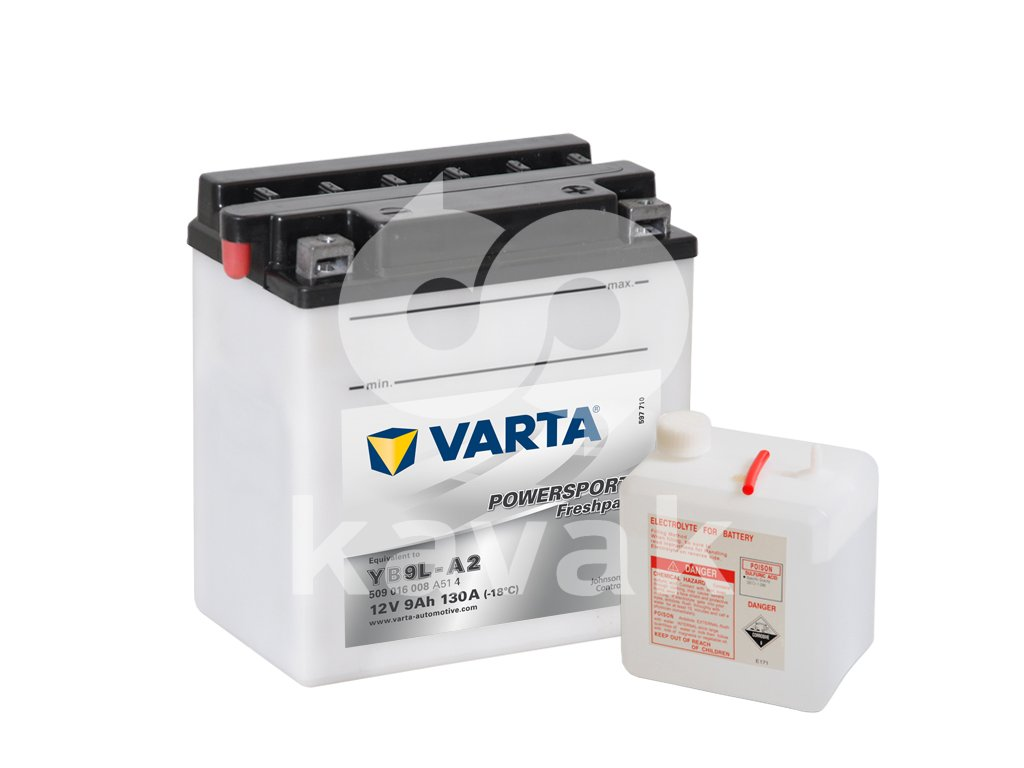 Varta freshpack 12V 9Ah 130A 509 016 008 YB9L-A2