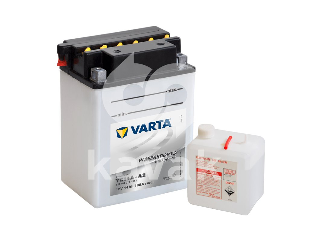Varta freshpack 12V 14Ah 190A 514 401 019 YB14A-A2