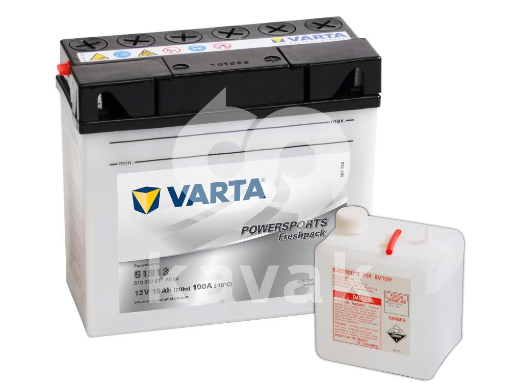 Varta freshpack 12V 19Ah 100A 519 013 017 51913
