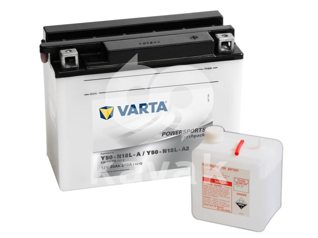 Varta freshpack 12V 20Ah 260A 520 012 020 Y50-N18L-A