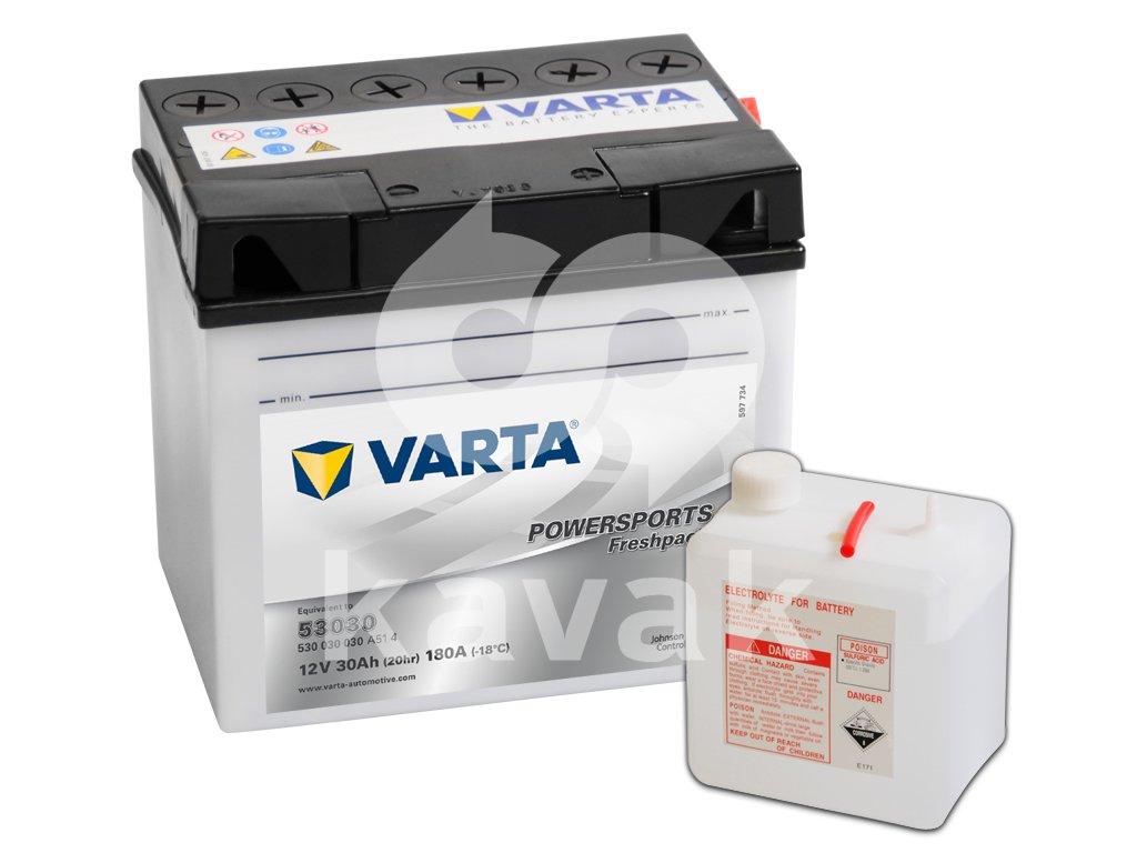 Varta freshpack 12V 30Ah 180A 530 030 030 53030