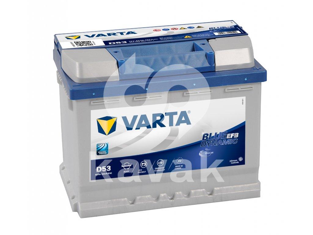Varta Start-Stop EFB 12V 60Ah 560A 560 500 056