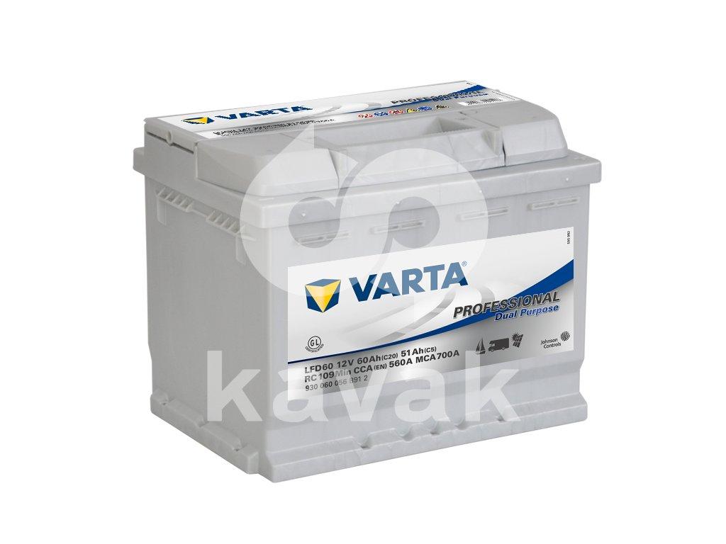 Varta Professional Dual Purpose 12V 60Ah 560A 930 060 056