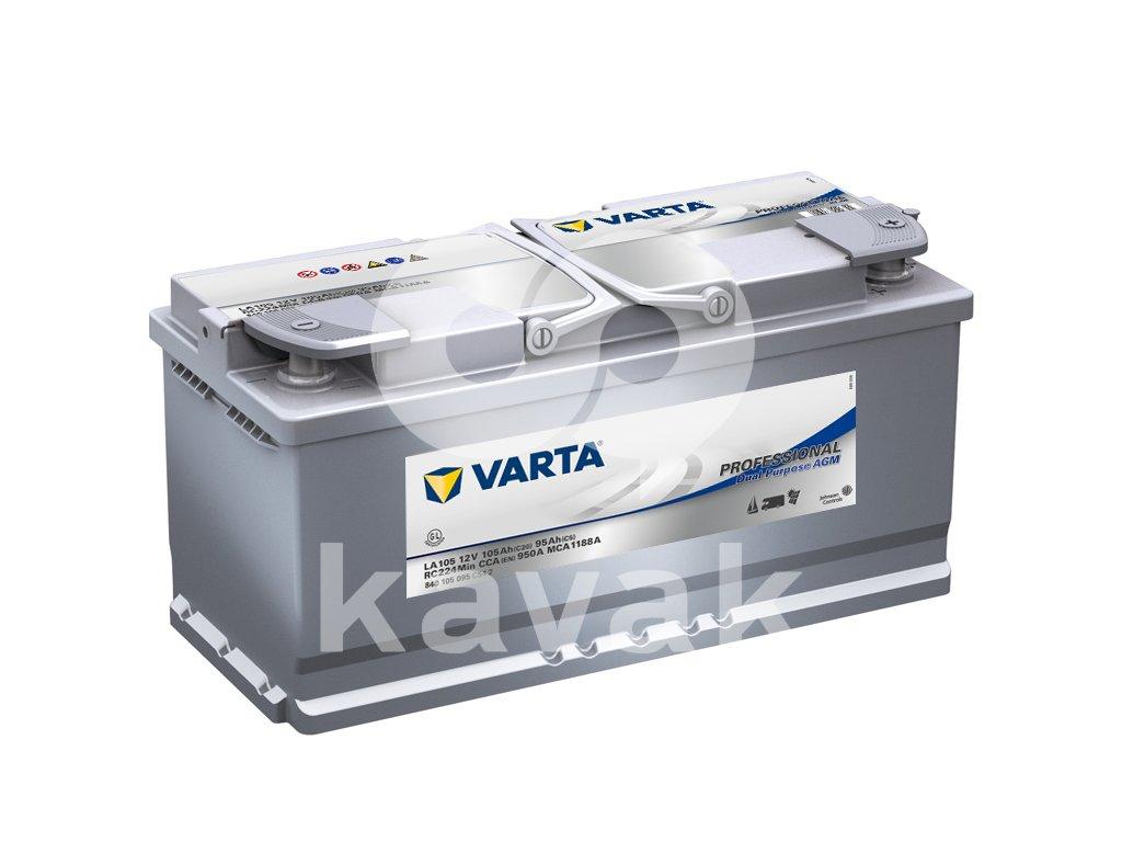 Varta Professional Dual Purpose AGM 12V 105Ah 950A 840 105 095
