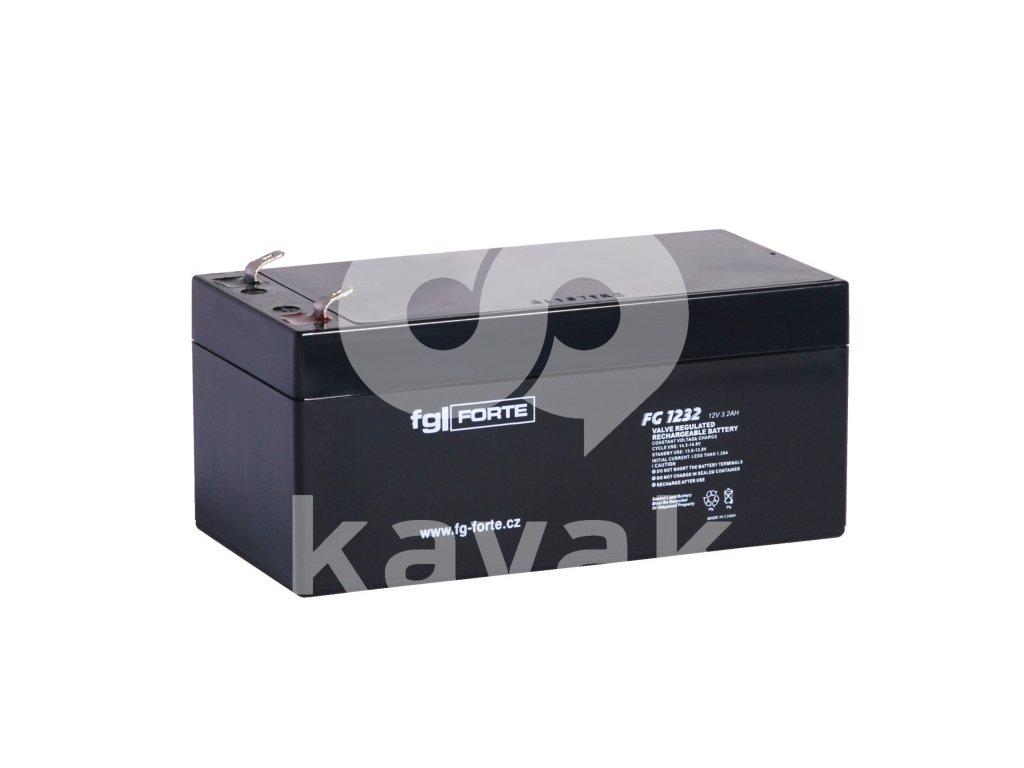 Staniční baterie,záložní zdroj fgFORTE 12V 3,2Ah