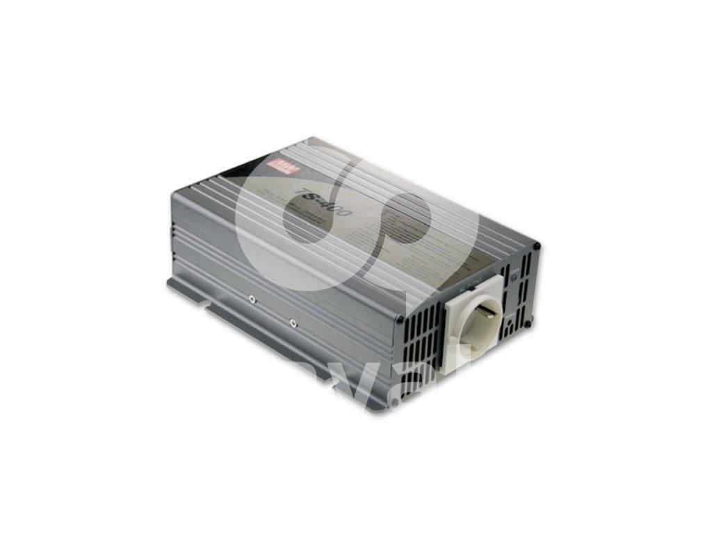 TS 400 212B měnič napětí sínusový 12V na 230V 400W, DC AC měnič napětí
