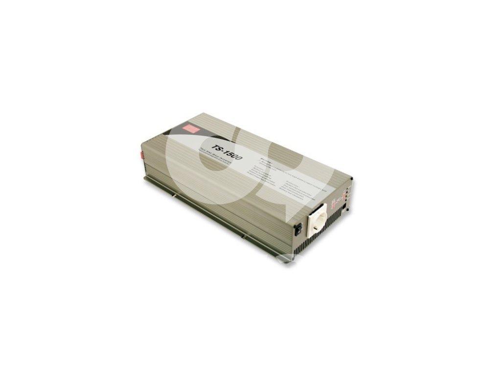 TS 1500 224B Měnič napětí sínusový 24V na 230V 1500W, DC AC měnič napětí