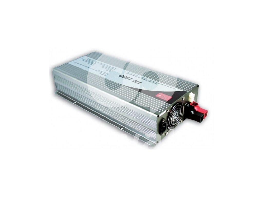 TN 1500 212B měnič napětí DC AC 12V na 230V 1500W sínus pro solární aplikace s f