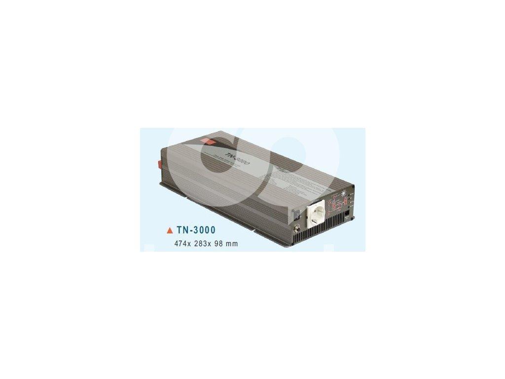TN 3000 224B Měnič napětí DC AC 24V na 230V 3000W sínus pro solární apliakace s
