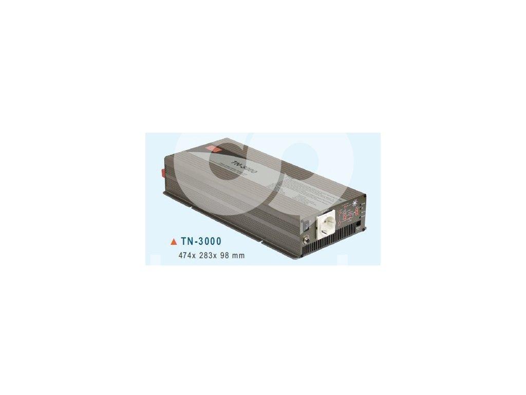 TN 3000 248B Měnič napětí DC AC 48V na 230V 3000W sínus pro solární apliakace s
