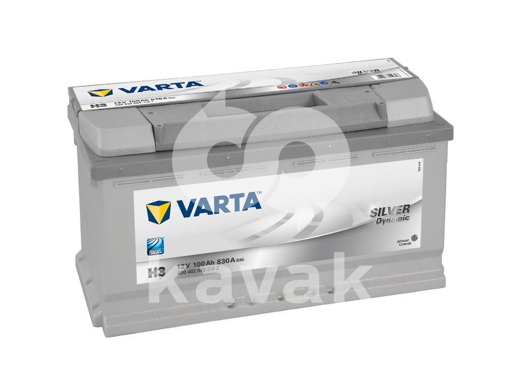 Varta Silver Dynamic 12V 100Ah 830A 600 402 083