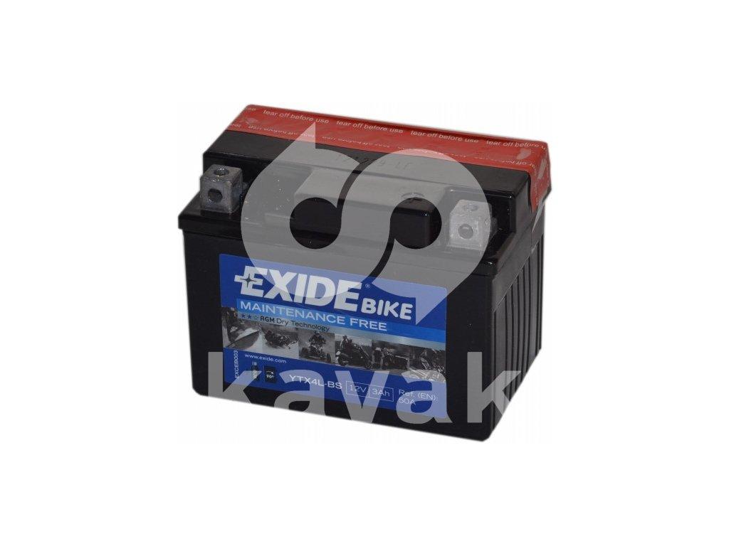 EXIDE 12V 3Ah YTX4L-BS