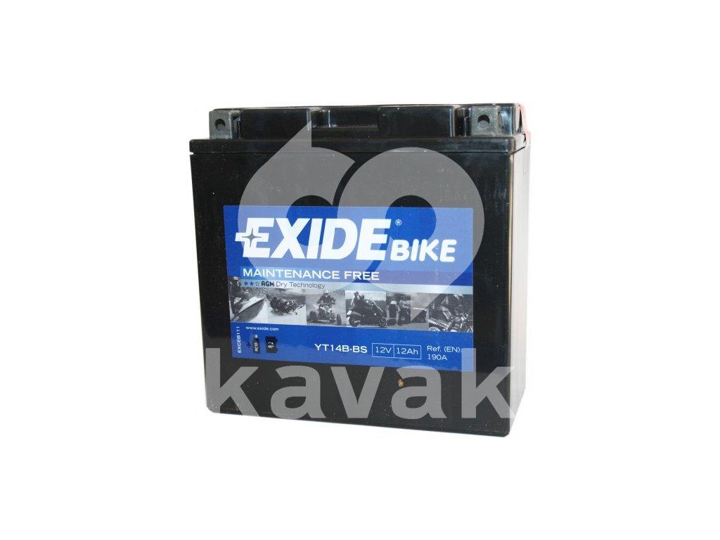 EXIDE 12V 12Ah YT14B-BS