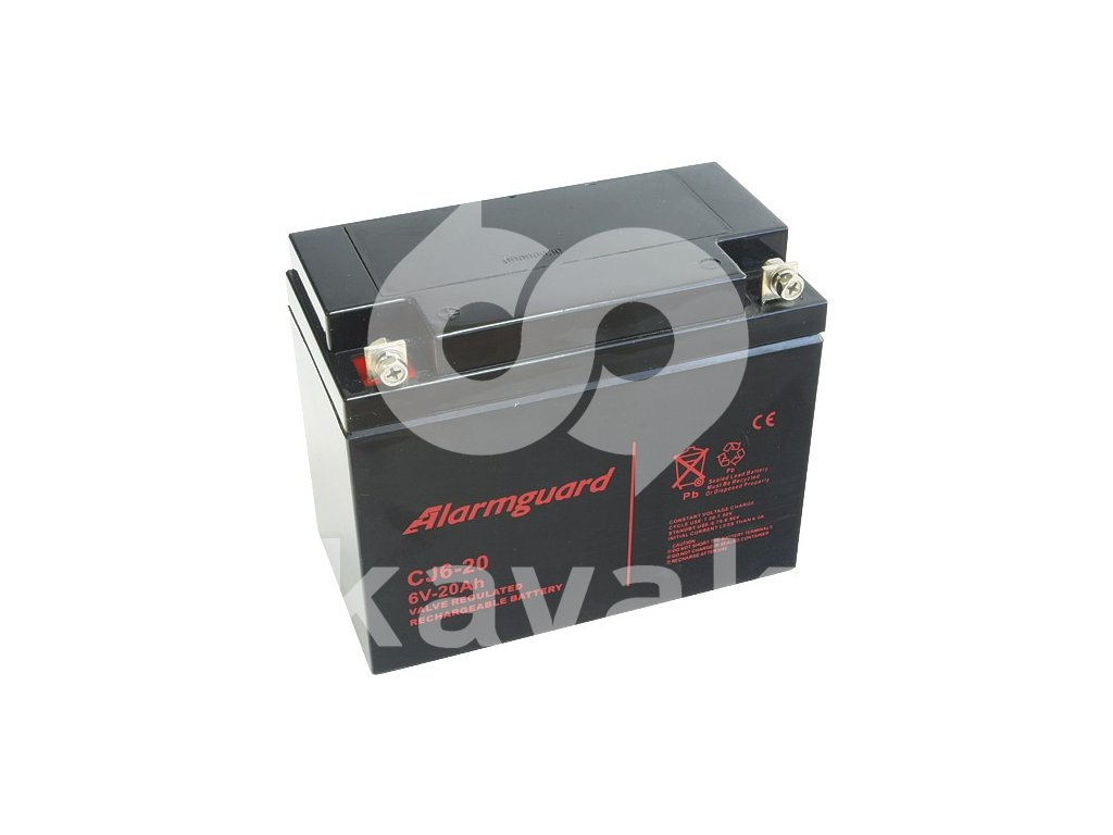 ALARMGUARD CJ6-20  6V 20Ah