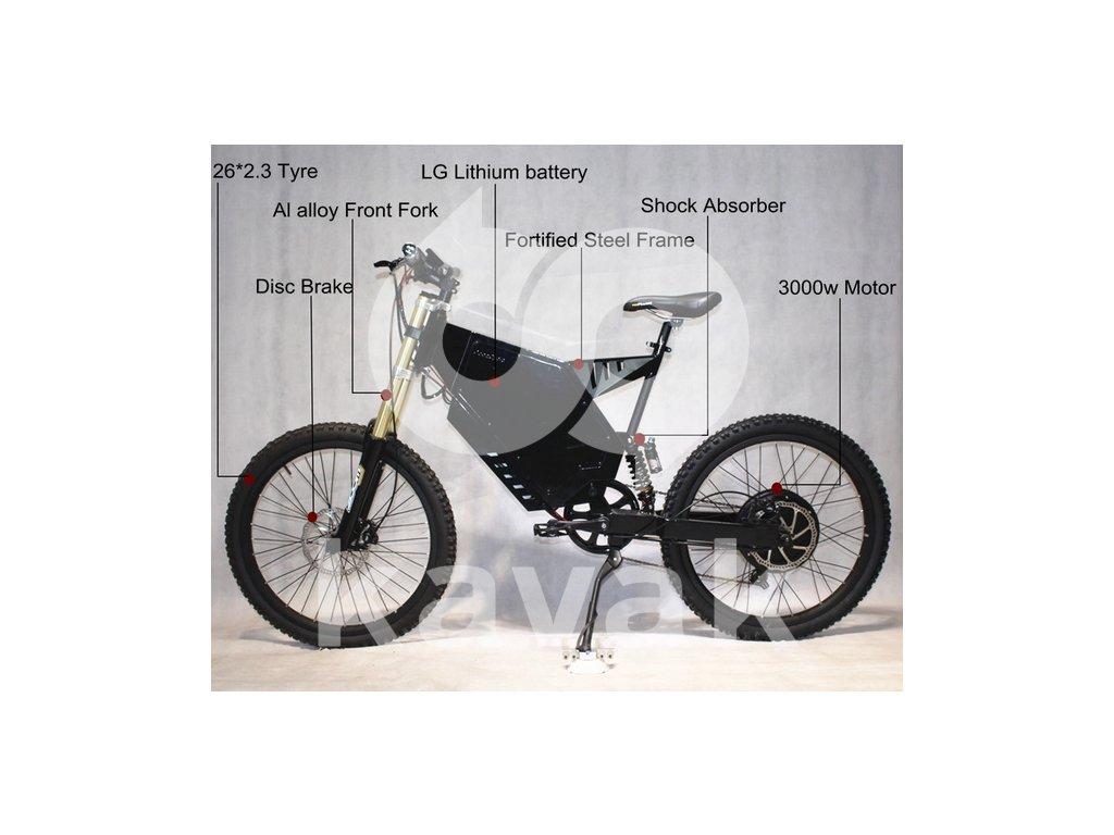 Elektrokolo ELBS Fastbike 48V 3000W
