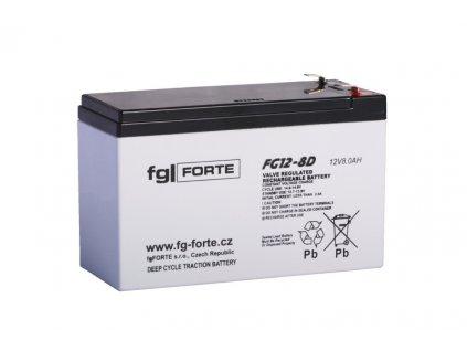Staniční baterie,záložní zdroj fgFORTE 12V 8Ah