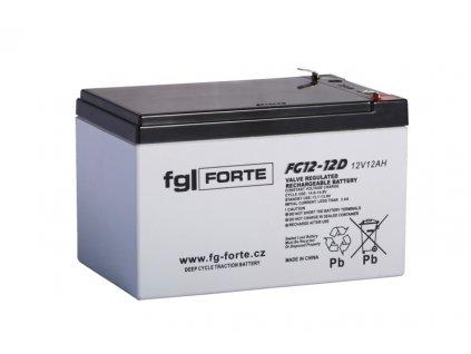 Staniční baterie,záložní zdroj fgFORTE 12V 12Ah