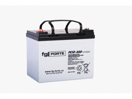 Staniční baterie,záložní zdroj fgFORTE 12V 35Ah