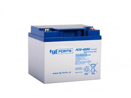 Staniční baterie,záložní zdroj fgFORTE 12V 42Ah