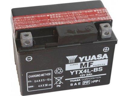 YUASA SUPER MF 12V 3Ah 50A YTX4L-BS