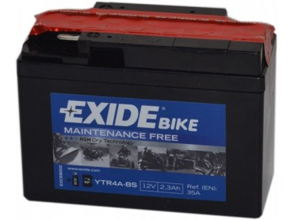 EXIDE 12V 2,3Ah YTR4A-BS