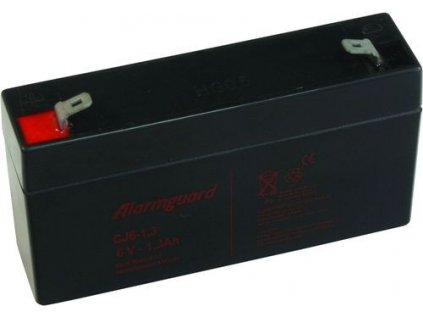 Staniční baterie, záložní zdroj ALARMGUARD CJ6-1.3  6V 1,3Ah