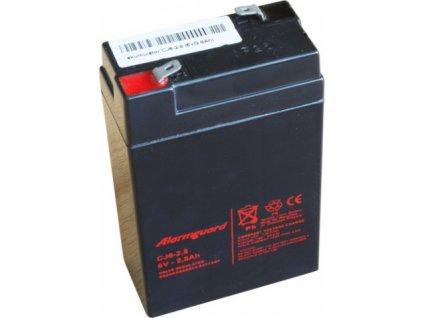 Staniční baterie, záložní zdroj ALARMGUARD CJ6-2.8  6V 2,8Ah