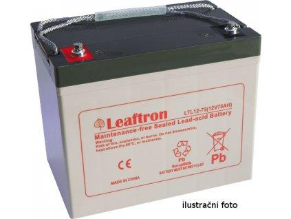 Staniční baterie, záložní zdroj LEAFTRON LTC12-75  12V 75Ah
