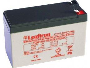 Staniční baterie, záložní zdroj LEAFTRON  LT12-7.2 T2 12V 7,2Ah