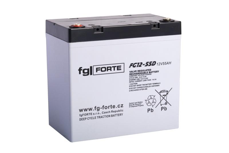 Staniční baterie,záložní zdroj fgFORTE 12V 55Ah