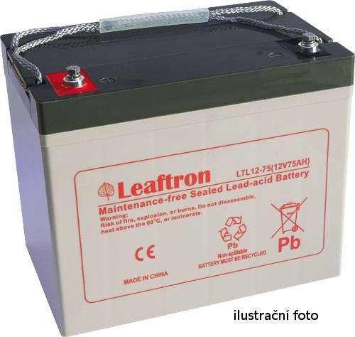 Staniční baterie, záložní zdroj LEAFTRON LTC12-55 12V 55Ah