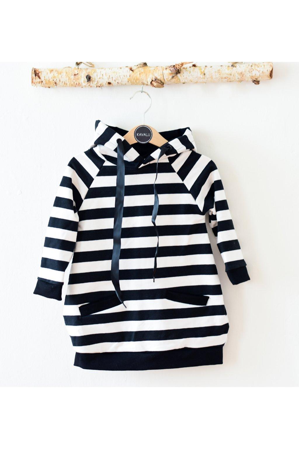 Dámské mikinové šaty - pruhy