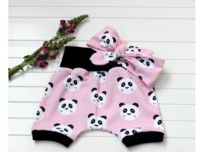 Kraťasy a čelenka - Panda růžová