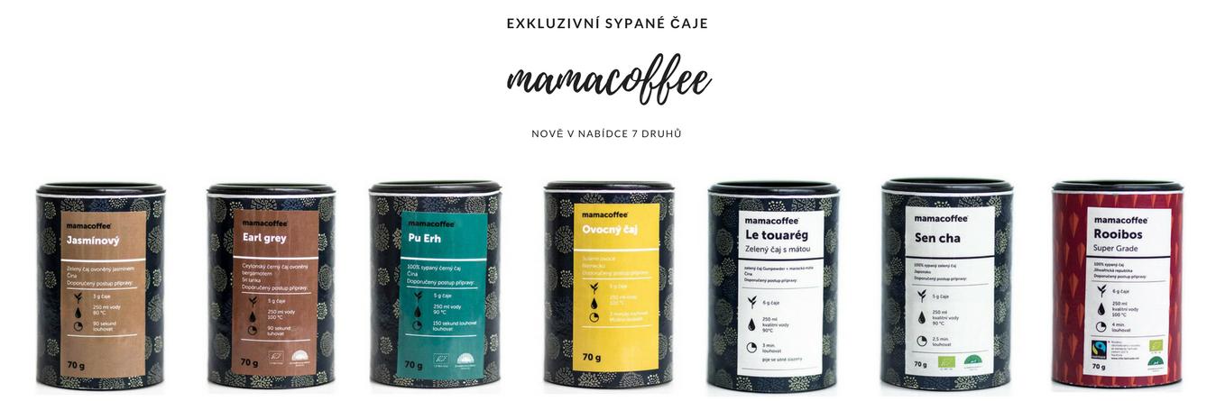 Mamacoffee sypané čaje