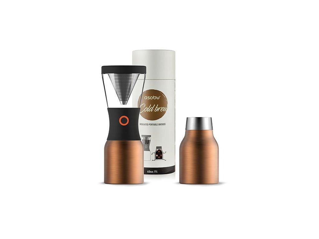 Asobu Cold brew kávovar na ledovou kávu měděný
