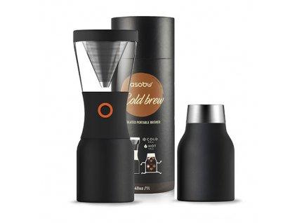 Asobu Cold brew kávovar na ledovou kávu černý