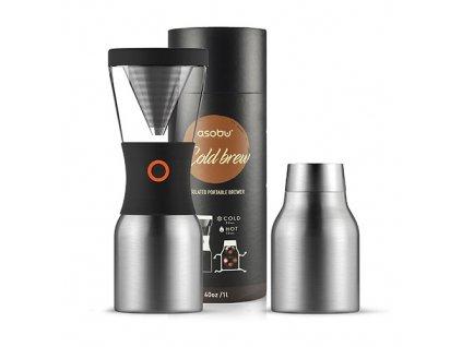 Asobu Cold brew kávovar na ledovou kávu stříbrný
