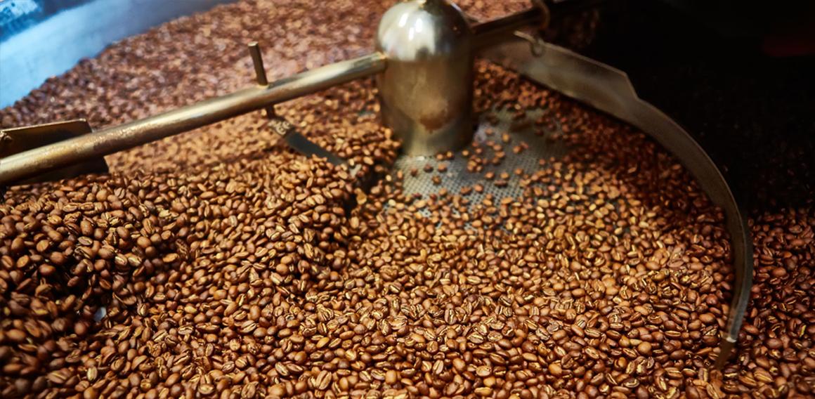 pražená káva v pražičce