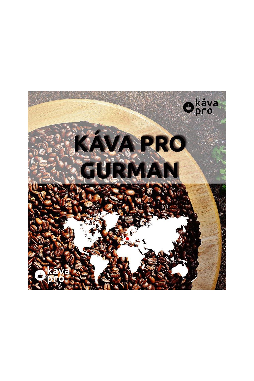 KÁVA PRO GURMAN - 100% směs tří druhů caffee arabica