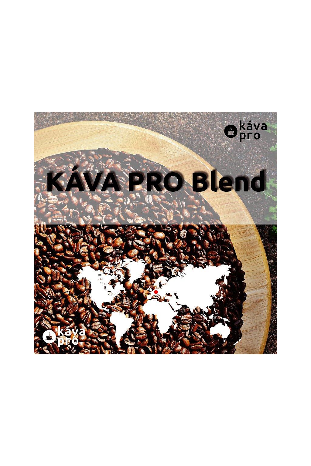 KÁVA PRO Blend - 100% směs tří druhů caffee arabica