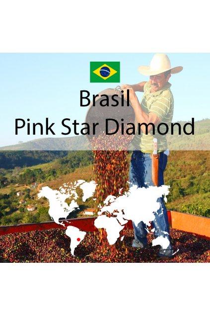 Pražená káva Brasil Pink Star Diamond