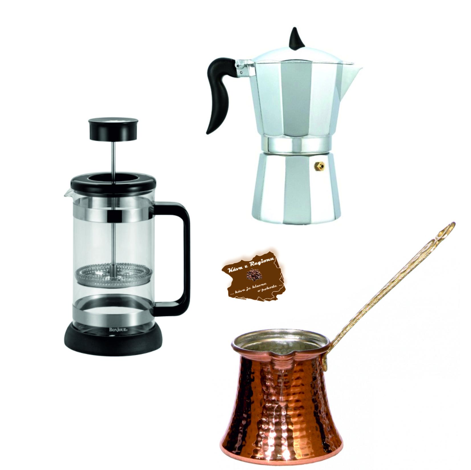 Základní přípravy kávy