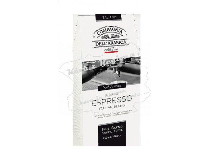 Corsini Espresso Italian Blend mletá 250g