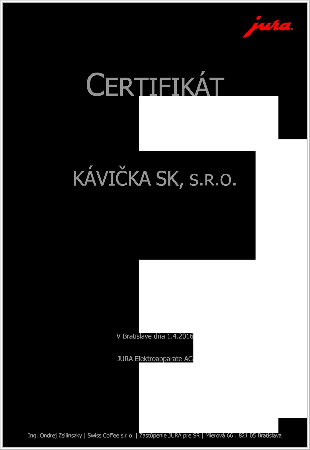 JURA_certifikat